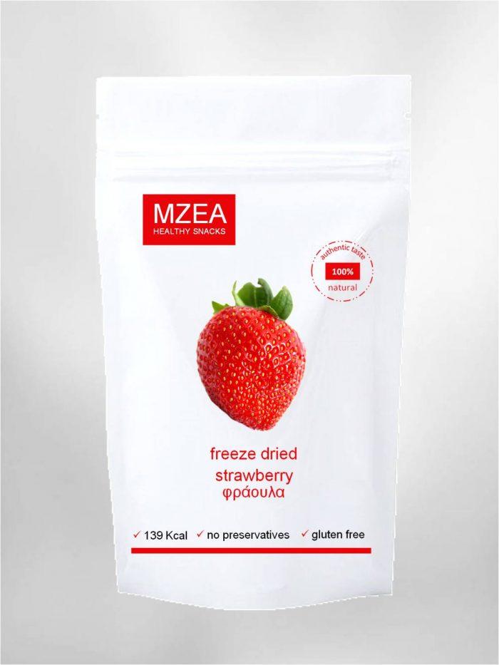 freeze dried φράουλα-χωρίς-ζάχαρη