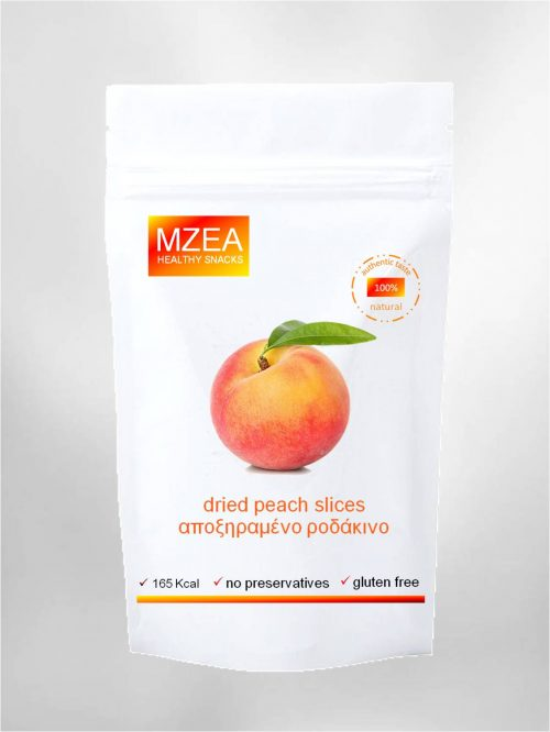 natural and healthy peach snack